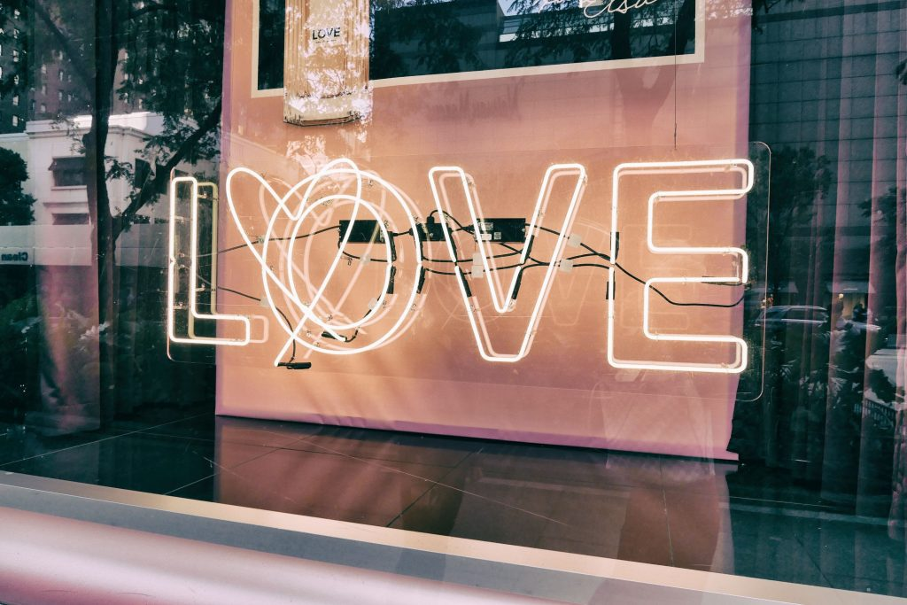 LOVE window display - improve customer loyalty